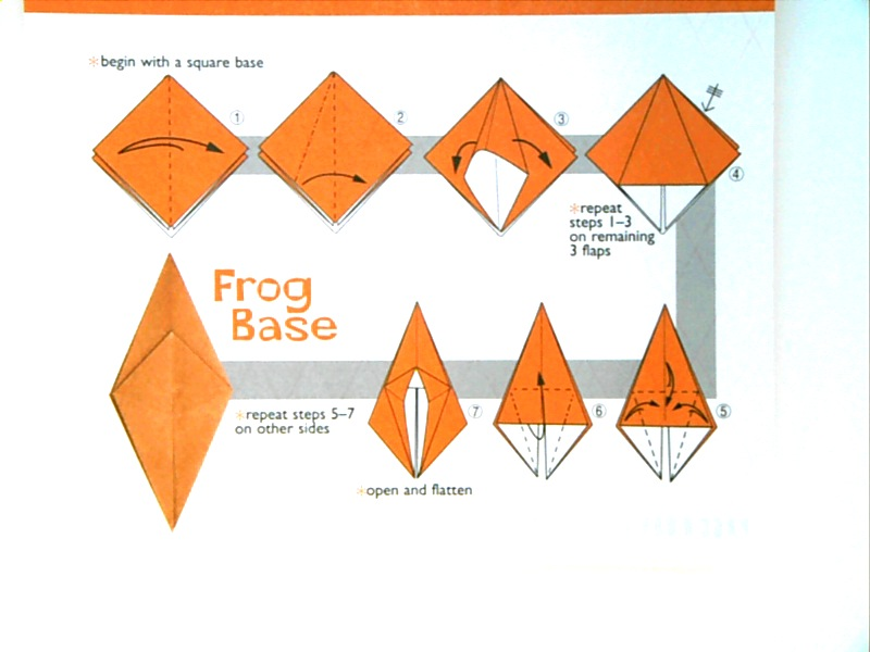 frog base origami 28 images origami frog base
